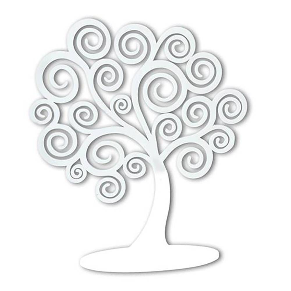 Árvore Decorativa dos Sonhos Branca em MDF - 43x37 cm