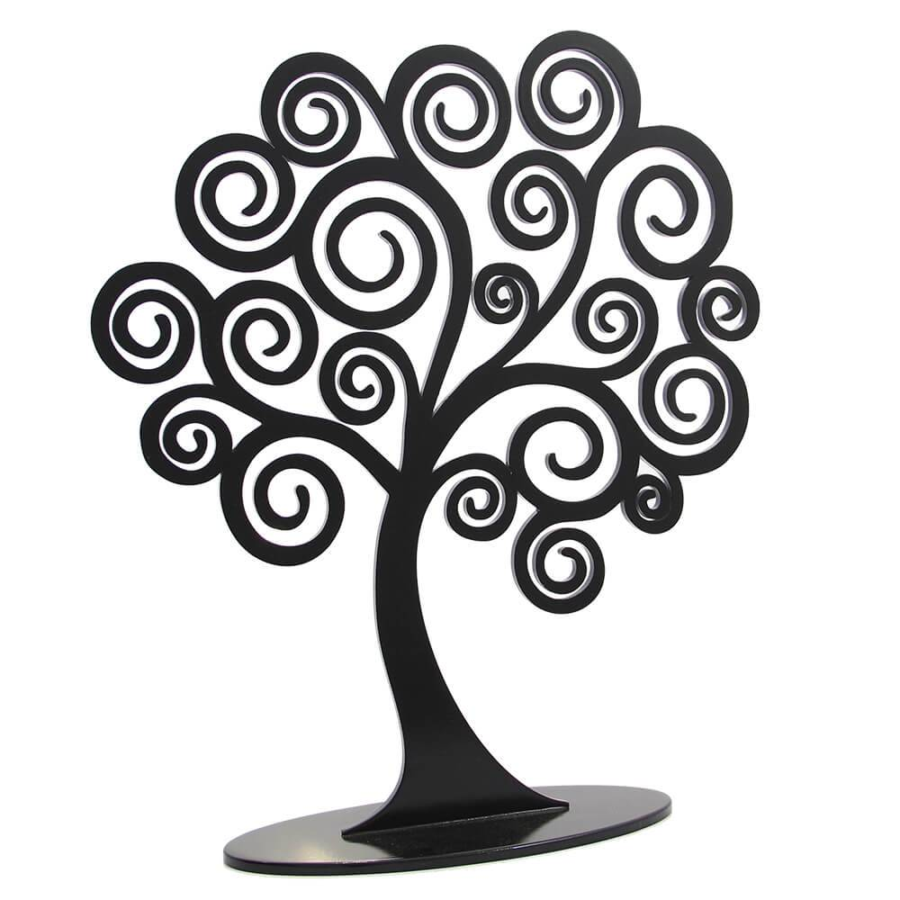 d8b61f6eb Árvore Decorativa dos Sonhos Preto Grande em MDF - 43x37 cm - Compre ...