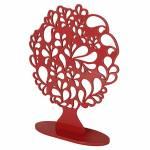 Árvore Decorativa Gotas Vermelha Média em MDF - 36x29 cm