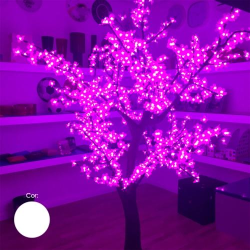 Árvore Decorativa com Luzes de Led Brancas - 200x100 cm