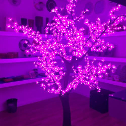 Árvore Decorativa com Luzes de Led Rosas - 200x100 cm