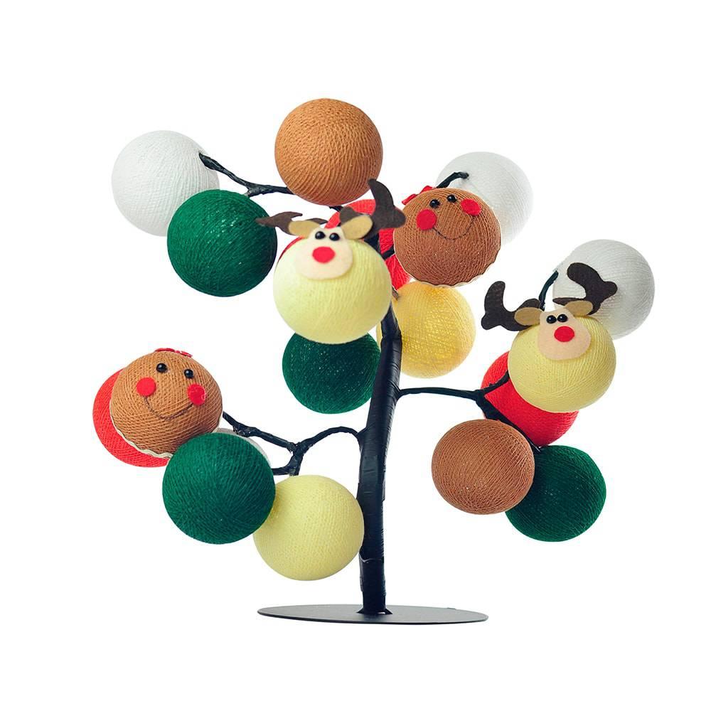 Árvore de Luz Natal Santa's Village com 20 Bolinhas - Bivolt