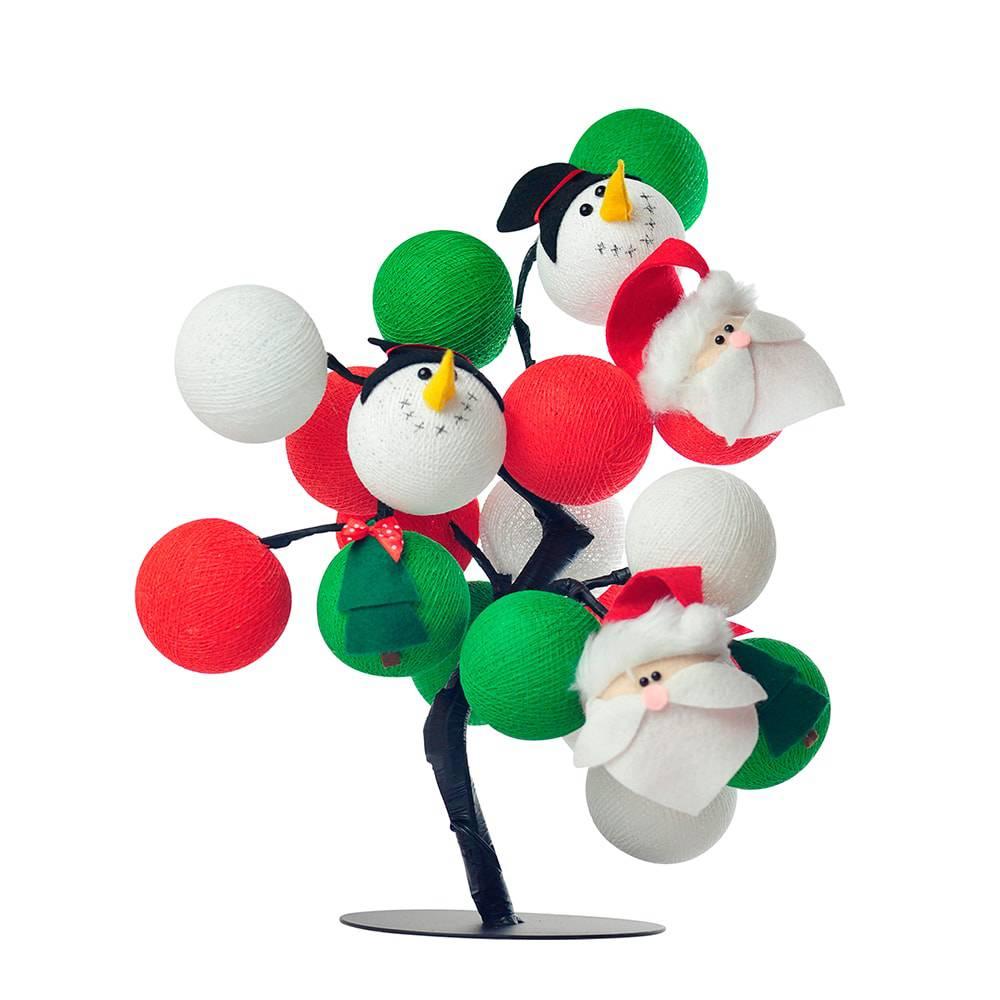 Árvore de Luz Natal São Nicolau com 20 Bolinhas - Bivolt