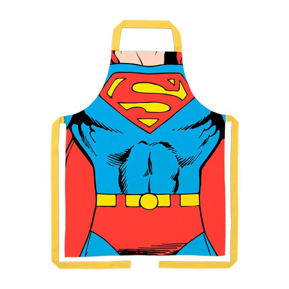 Avental DC Comics Superman Body em Algodão - Urban - 80x70 cm