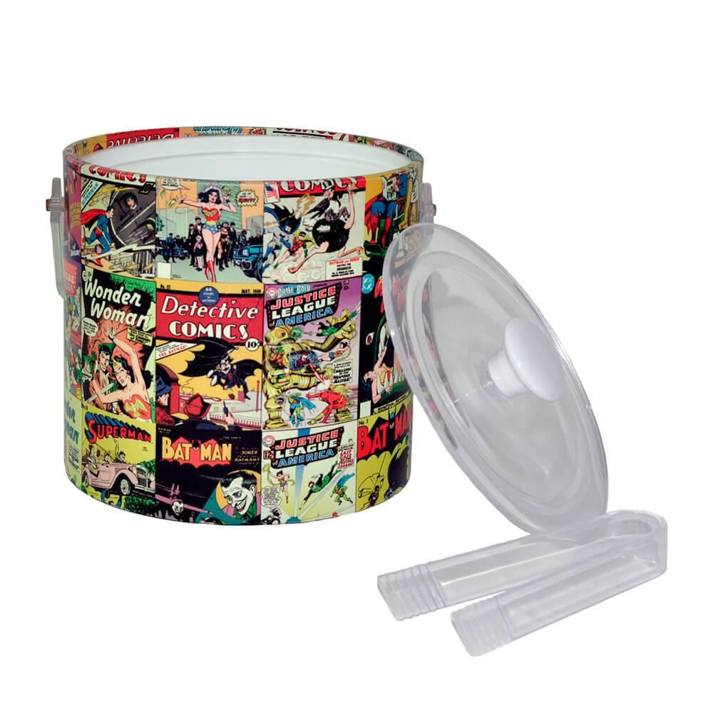 Balde para Gelo Capas DC Comics Colorido em PVC - Urban - 22x19 cm