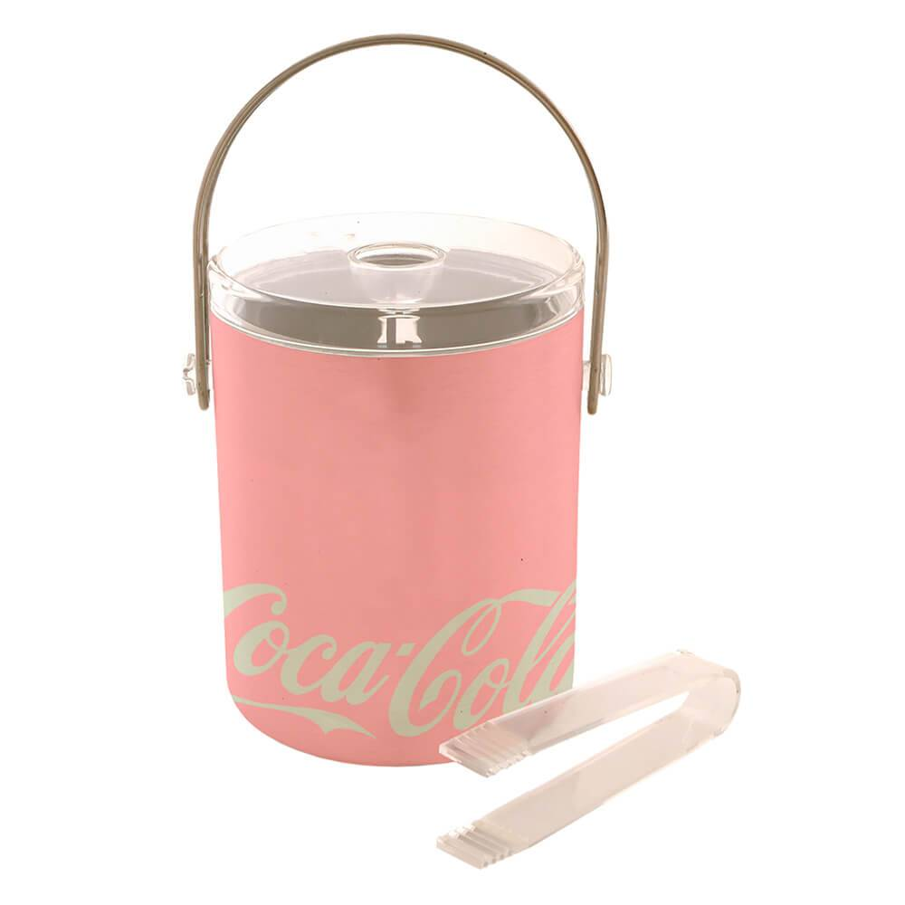 Balde para Gelo Coca-Cola Contemporary Rosa - Urban - 19,5x18 cm