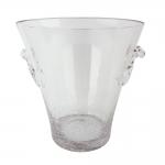 Balde para Gelo Cracked Transparente em Vidro - 22x25 cm