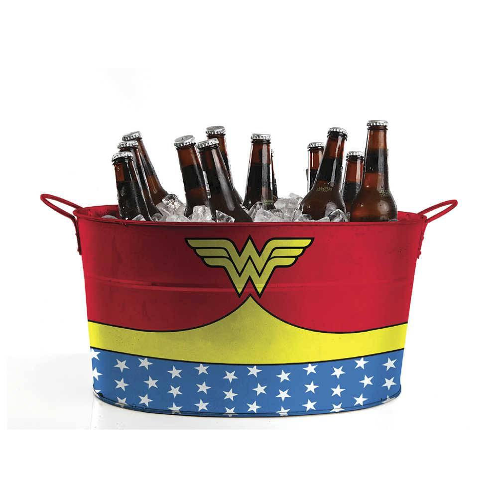 Balde para Gelo DC Comics Wonder Woman Customs Vermelho em Metal - Urban - 45x24 cm