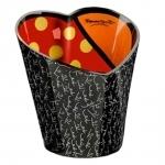 Balde para Gelo Heart Preto - Romero Britto - em Cerâmica - 22x21 cm