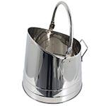 Balde Prata para Lenha/Cinzas com Alças Fullway em Inox - 28 cm