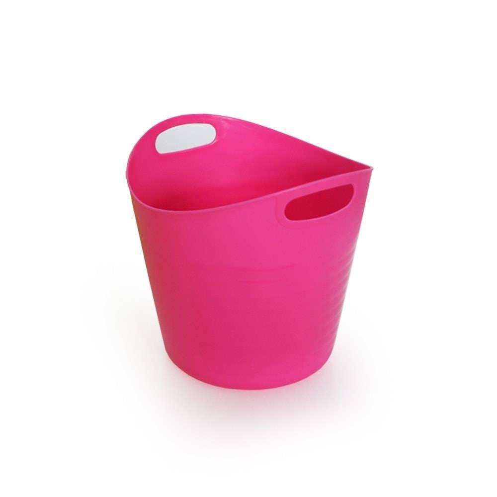 Balde Multiuso Rosa - Lyor Design - 20x18,5 cm