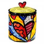 Porta Biscoitos A New Day - Romero Britto - em Cerâmica - 20x15 cm