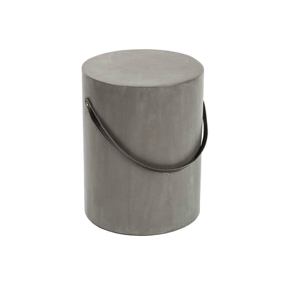 Banco com Acabamento em Cimento Queimado - em MDF - 46x35 cm