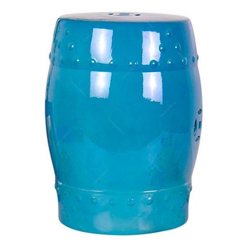 Banco de Jardim Azul em Cerâmica - 46x33 cm