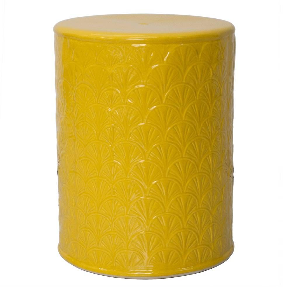 Banco de Jardim Crushy Amarelo em Cerâmica - 47x35 cm