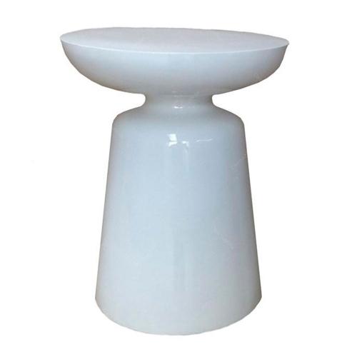 Banco Torre Branco em Fibra de Vidro - 45x35 cm