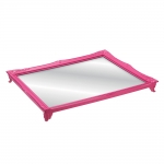 Bandeja Alta Gradient Rosa com Fundo Espelhado - 25x20 cm