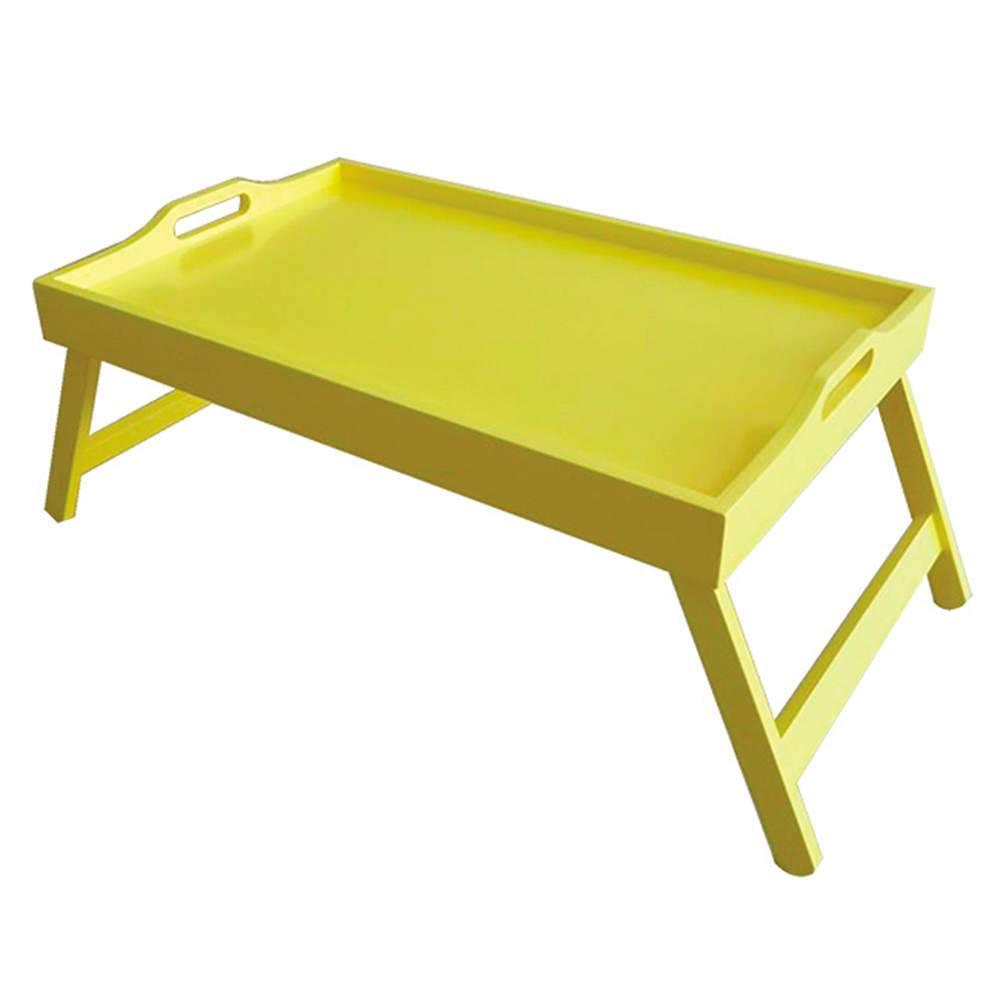 Bandeja para Café da Manhã Bright Colors Amarela em Madeira - Urban - 55,5x35 cm