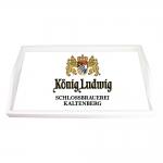 Bandeja Cerveja Konig Ludwig Branca Pequena em MDF - 32x19,5 cm