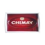 Bandeja Chimay Pequena em MDF e Fundo de Vidro - 32x20 cm