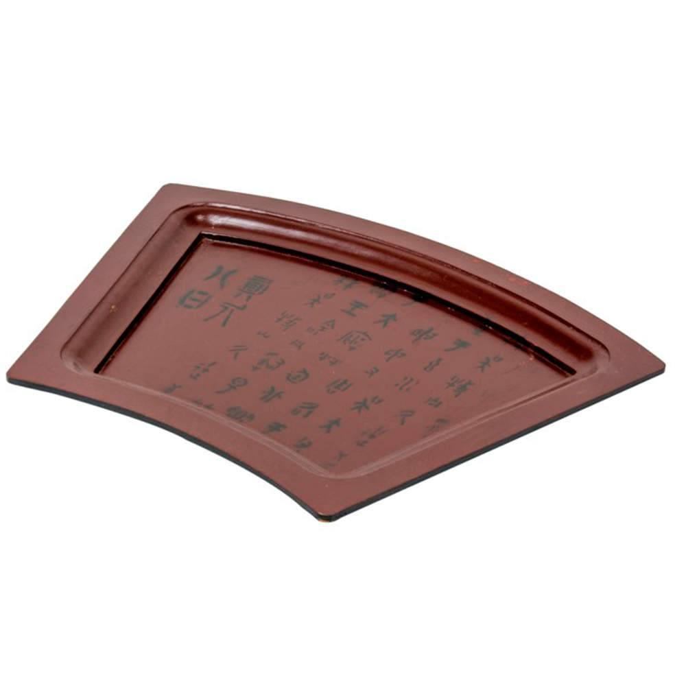 Bandeja Chinesa com Estampa Mandarim em Madeira - 31x30 cm
