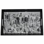 Bandeja Dark New York City Preto em MDF - Urban - 46x30,5 cm