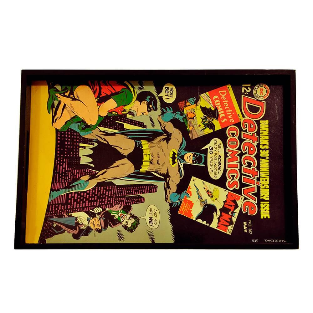 Bandeja DC Comics Batman Colorido em Madeira - Urban - 45x29 cm