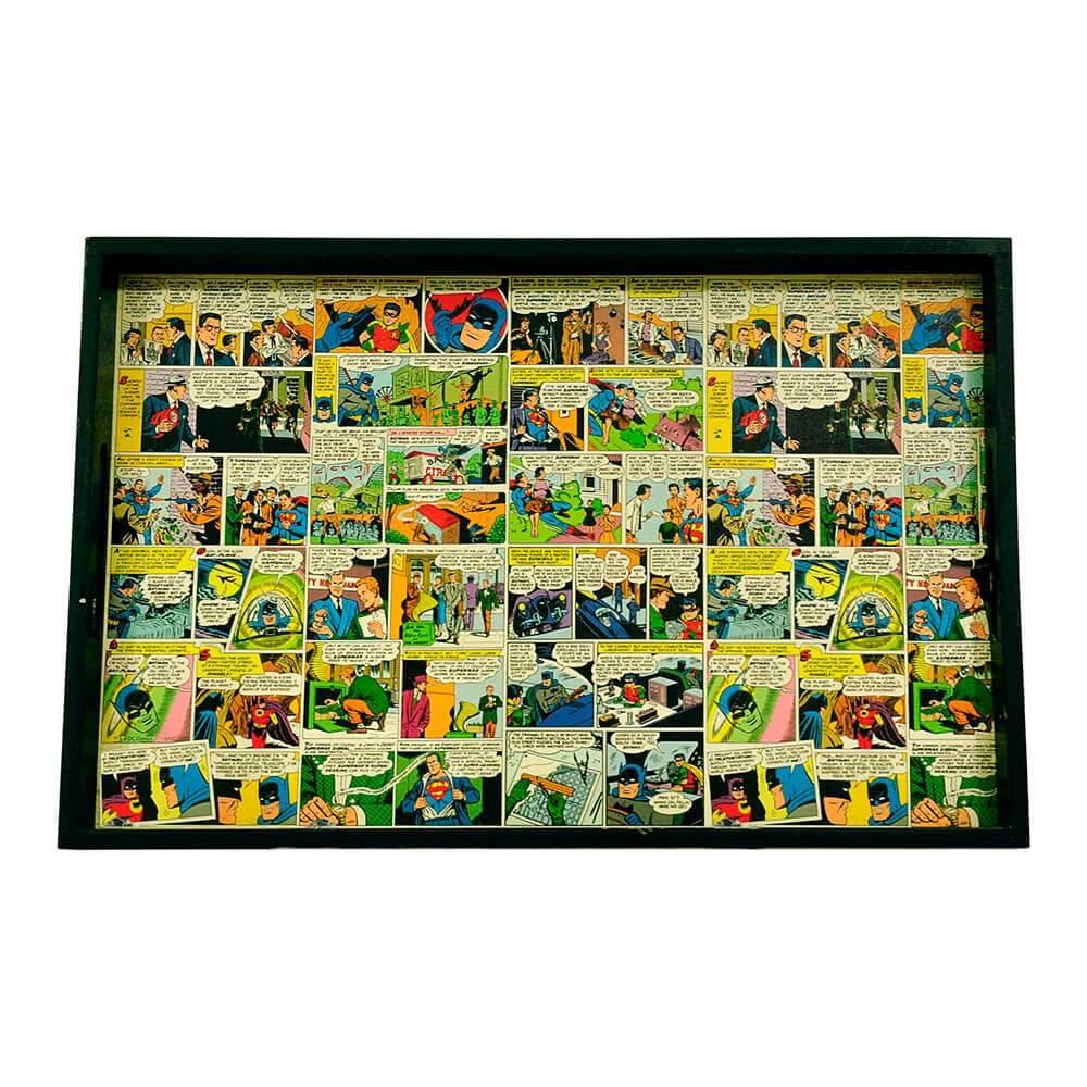 Bandeja DC Comics Quadrinhos Colorido em Madeira - Urban - 45x29 cm