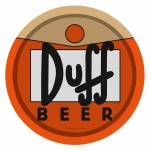Bandeja Duff Beer - The Simpsons - Laranja em Metal - 30x2,5 cm