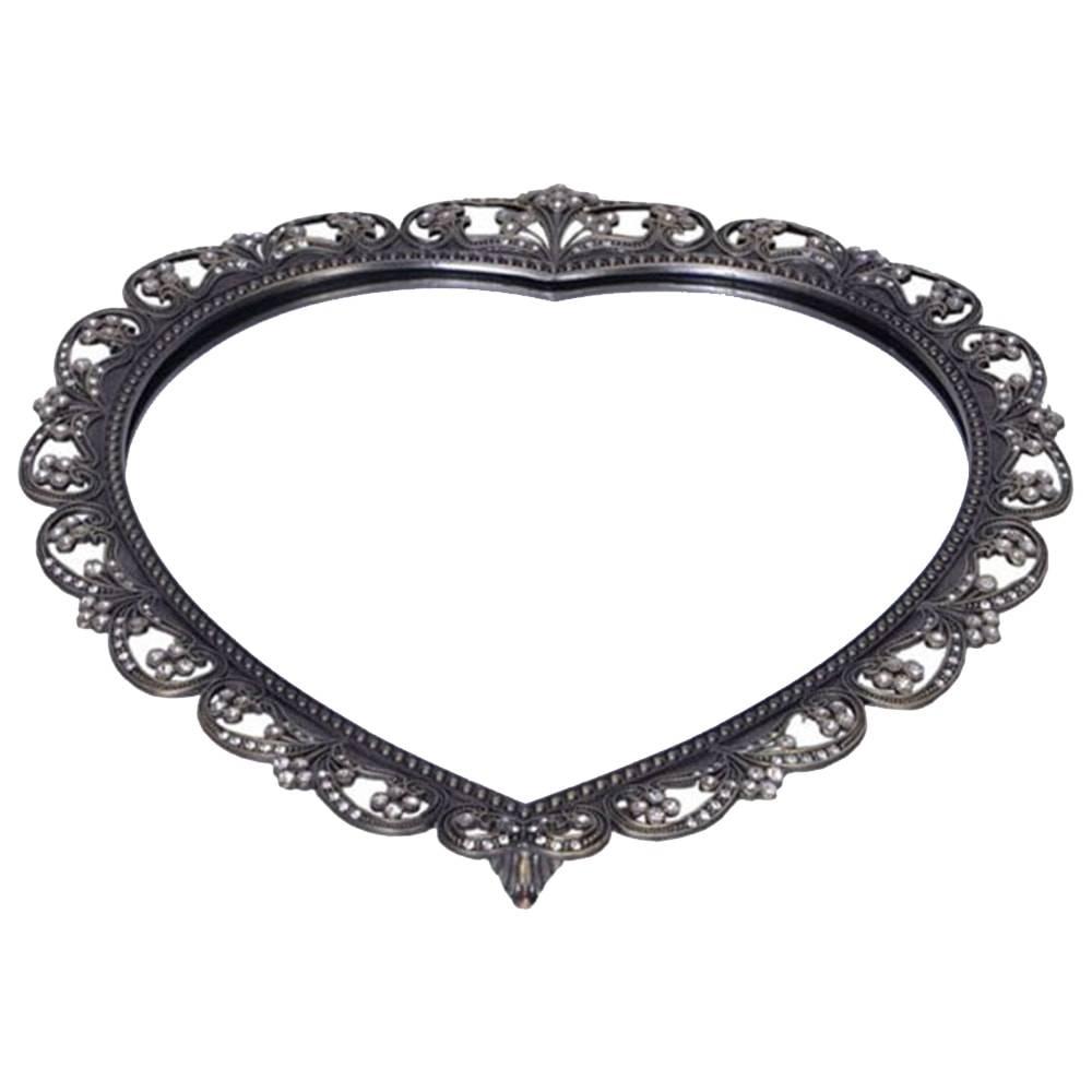 Bandeja Duquesa Heart em Metal Prata - 30x30 cm