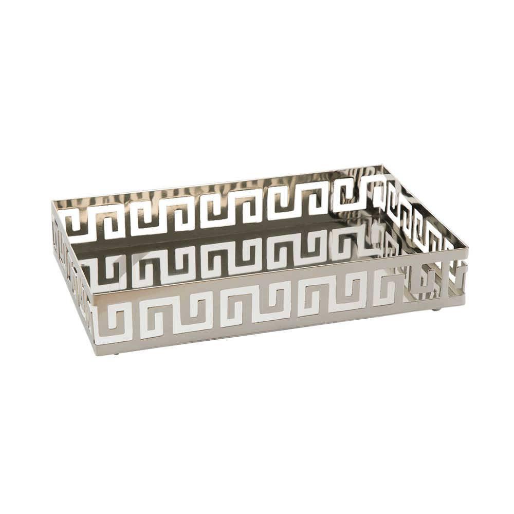 Bandeja Elegance em Aço Inox Retangular - Lyor Classic - 25x12,5 cm