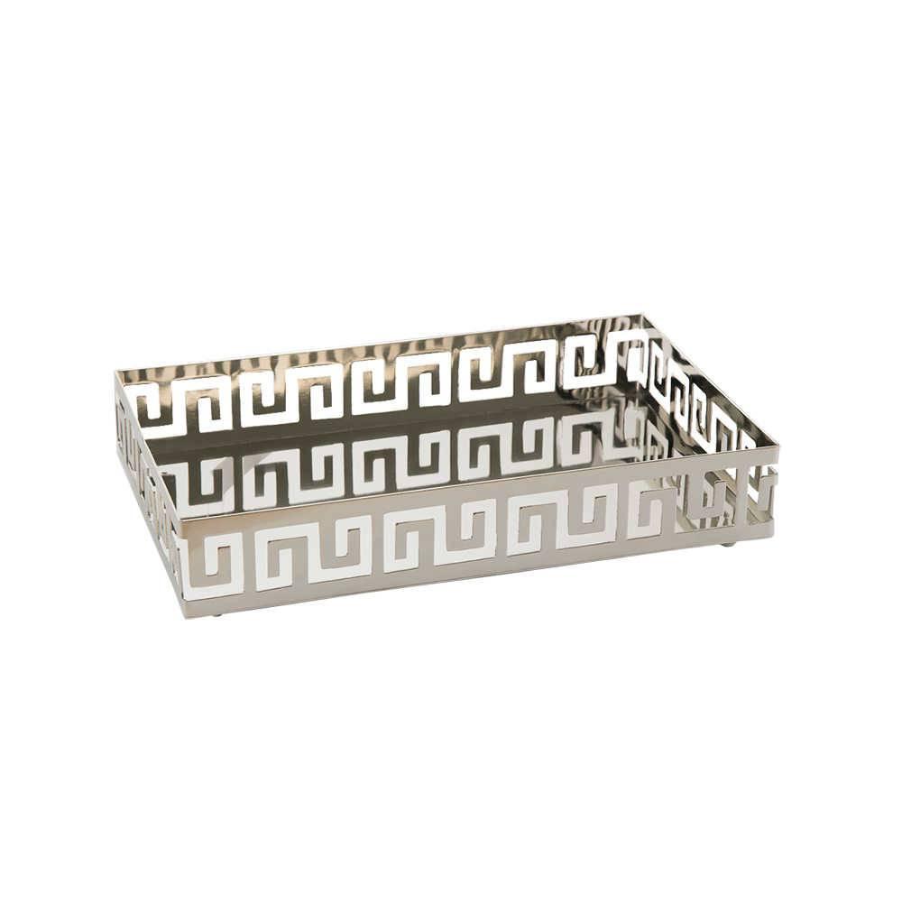 Bandeja Elegance em Aço Inox Retangular - Lyor Classic - 31x19 cm