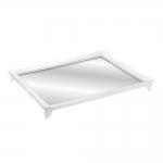 Bandeja Grande Gradient Branca c/ Fundo Espelhado - 25x20 cm