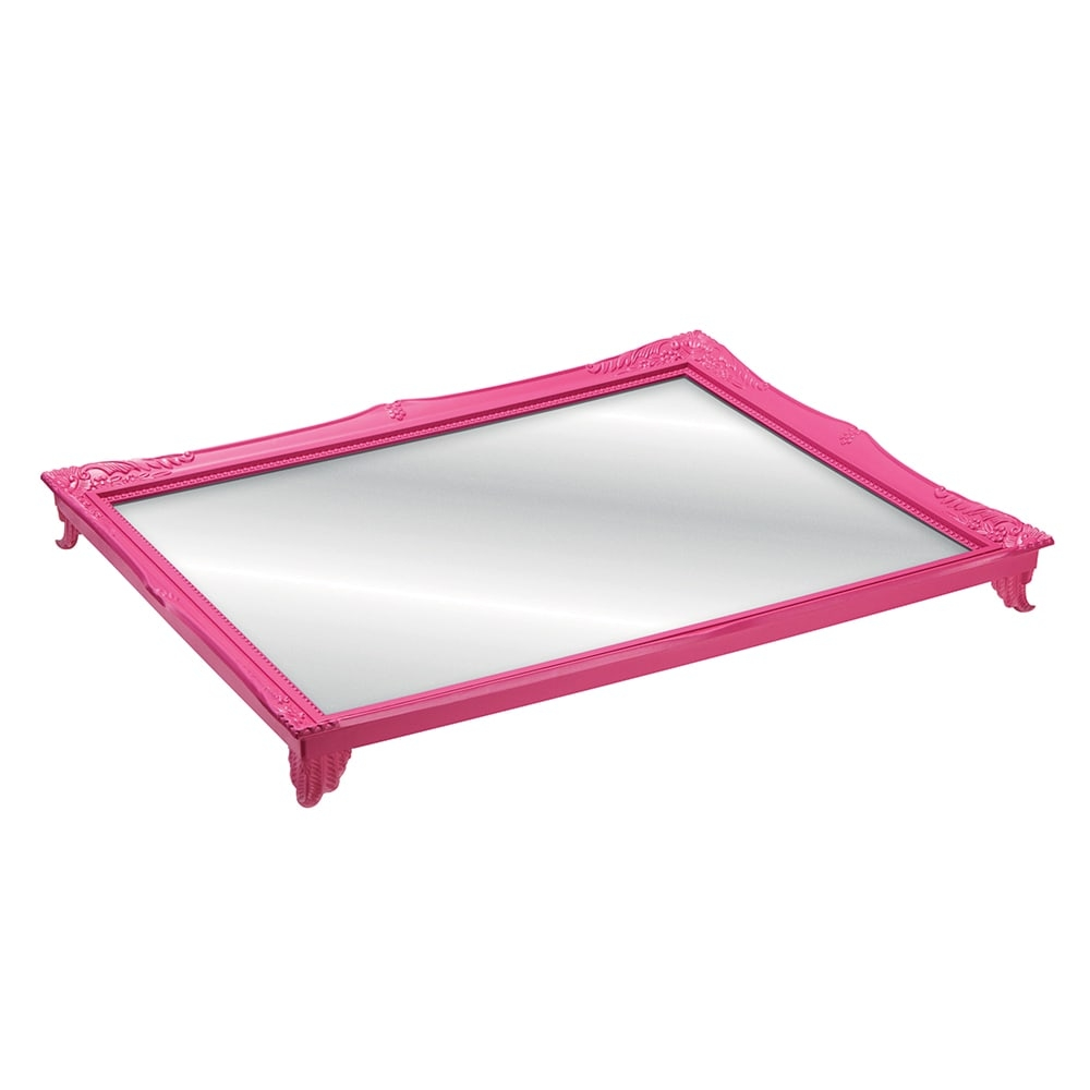 Bandeja Grande Gradient Rosa com Fundo Espelhado - 25x20 cm