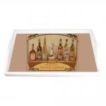 Bandeja Garrafas de Rum Média em MDF - 38x24 cm
