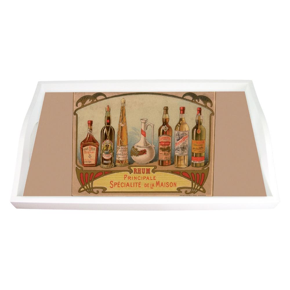 Bandeja Garrafas de Rum Pequena em MDF - 32x19,5 cm