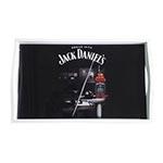 Bandeja Jack Daniels Sinuca Pequena em MDF e Fundo de Vidro - 32x20 cm