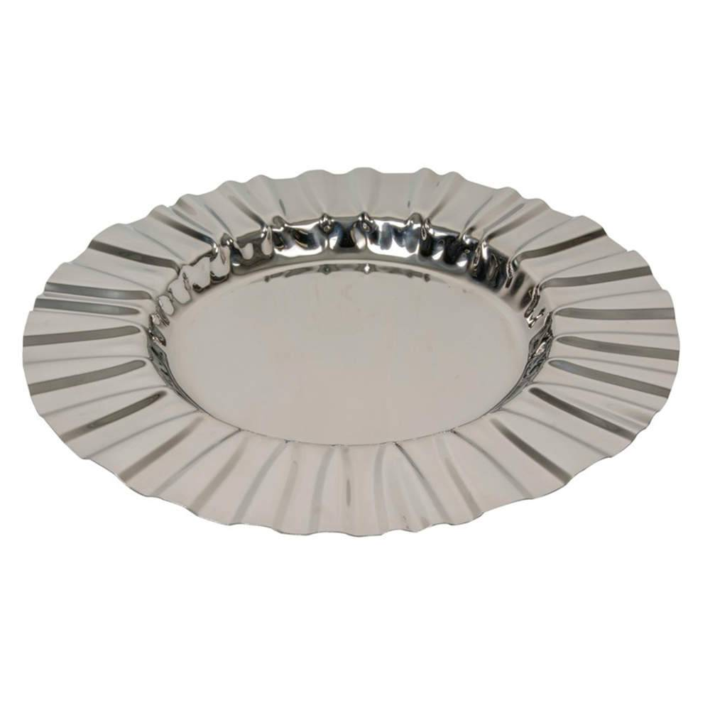 Bandeja Lain Grande Prata em Aço Inox - 50x50 cm