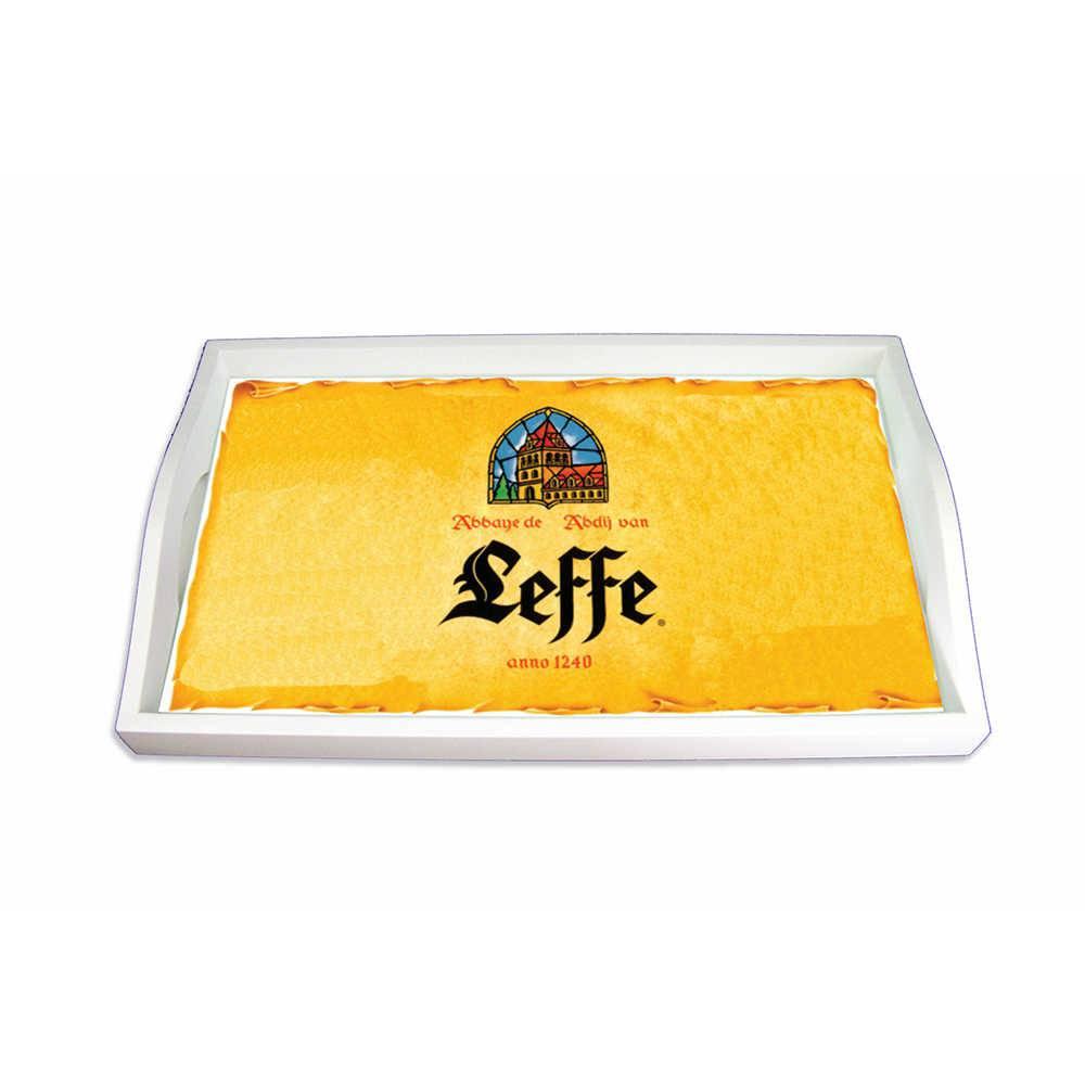 Bandeja Logo Leffe Amarela Média em MDF - 38x24 cm