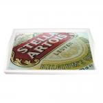 Bandeja Logotipo Cerveja Stella Artois Pequena em MDF - 32x19,5 cm