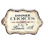 Bandeja Metálica Branca Dinner Choices Oldway