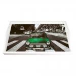 Bandeja Mini Cooper Verde Média em MDF - 38x24 cm