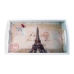 Bandeja Monumentos Paris Média em MDF e Fundo de Vidro - 38x24 cm