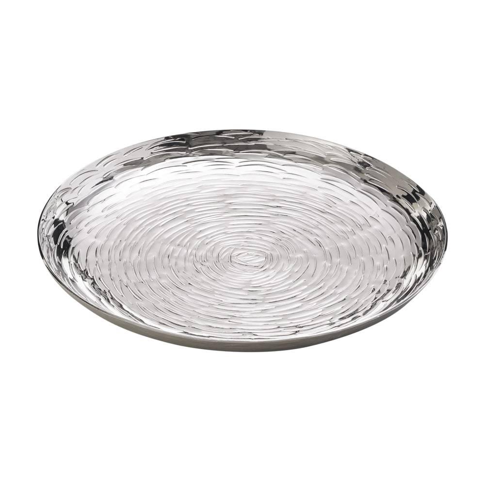 Bandeja Nath Redonda em Alumínio Niquelado - Lyor Classic - 17 cm