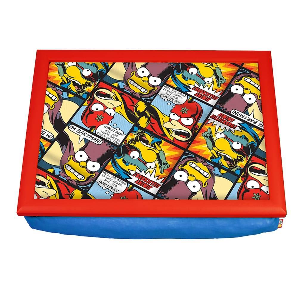 Bandeja para Notebook Bartman Heróis em Quadrinhos - The Simpsons - em Madeira - 43x33 cm