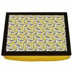 Bandeja para Notebook Bordões Homer Simpson Amarela em Madeira - 43x33 cm