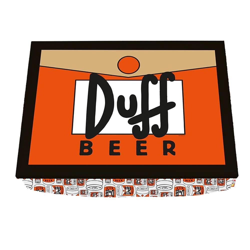 Bandeja para Notebook The Simpsons Duff Beer Laranja em Madeira - 43x33 cm