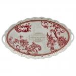 Bandeja Oriental Manor - Finecasa - Vermelho em Porcelana