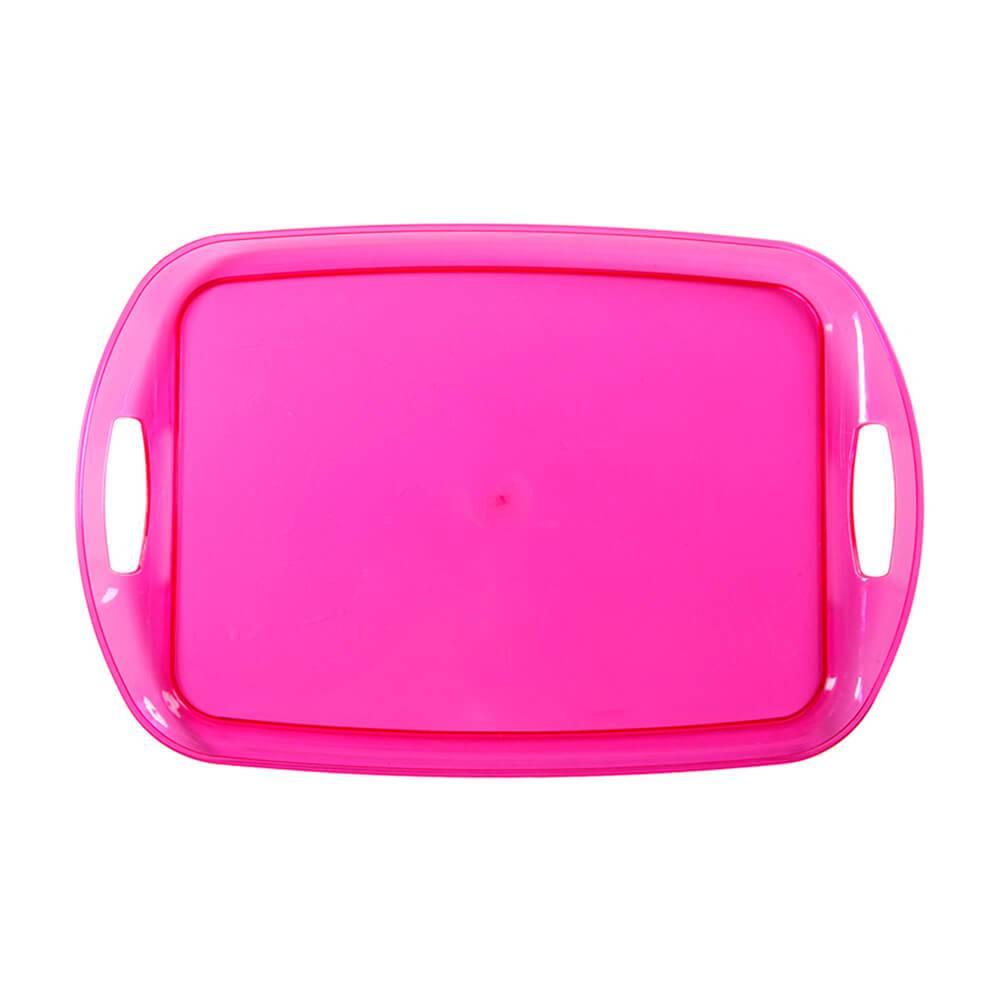 Bandeja Rainbow Pink em Polipropileno - Urban - 48x32 cm