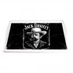 Bandeja Retrato Jack Daniels Preto e Branco Média em MDF - 38x24 cm